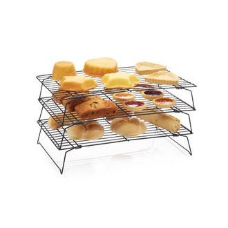 Grille refroidissement antiadhésive3 niveaux 40x25x22cm