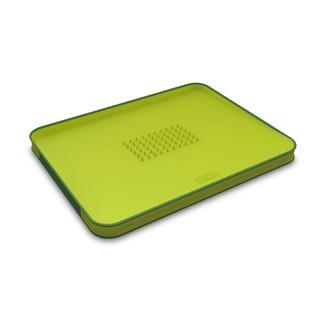 Planche à découper avec surface inclinée vert