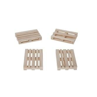 Mini palette en bois pour toast 8X12X2CM