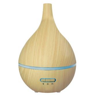 Diffuseur d'huiles essentielles en bois lumineux en forme de poire oléo