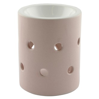 Brûle-parfum lanterne rose mat