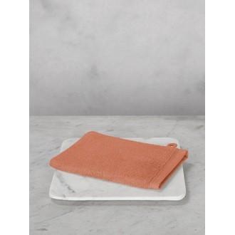Maom - gant de toilette en coton éponge corail