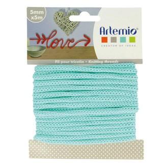 ARTEMIO - Fil tricotin polyester vert pastel 5mmx5m