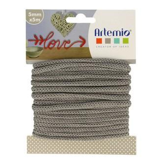 Artemio - fil tricotin polyester gris 5mmx5m