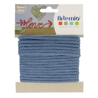 ARTEMIO - Fil tricotin polyester bleu 5mmx5m