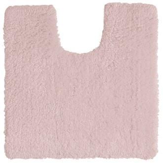 Tapis contour wc en coton rose clair 50x50cm