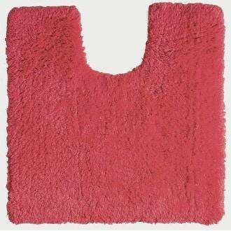 Tapis contour wc en coton rouge cranberry 50x50