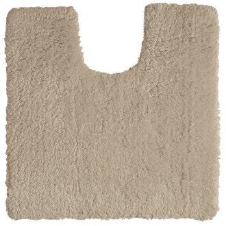 Tapis contour wc en coton beige 50x50cm