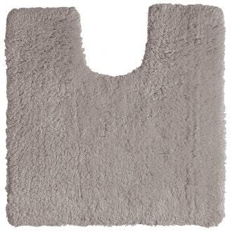 Tapis contour wc en coton gris 50x50cm