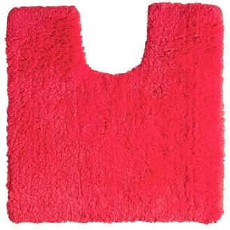 Tapis contour wc en coton rose 50x50cm