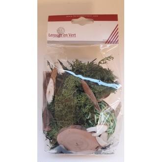Kit élements naturels pour compositon vert foncé