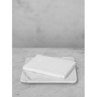Maom - gant de toilette en coton éponge blanc