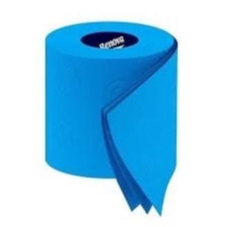 RENOVA - lot de 6 rouleaux de papier toilette bleu