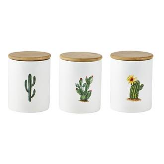 Bocal en céramique motifs cactus 0,6L ass