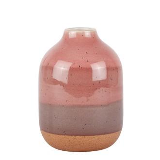 Vase céramique dégradé de roses ø12xh16,5cm