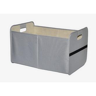 Panier à linge propre pliant en toile gris 50x33x30cm