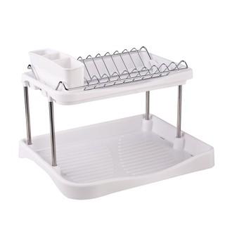 Egouttoir à vaisselle sur pieds avec plateau 42x31x28cm