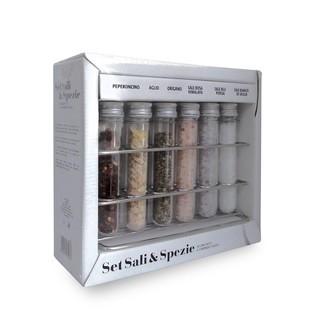 COLLITALI - Servi-épices de 6 tubes à épices 100g