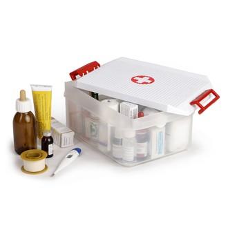 TATAY - Boîte à pharmacie en plastique blanc contenance 4,5 L 19x29x12cm