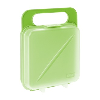 Boîte de conservation pour sandwich verte