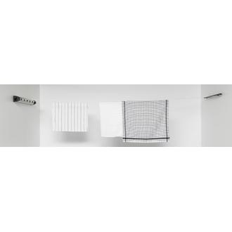 BRABANTIA - Etendoir à linge enrouleur mural à 5 cordes