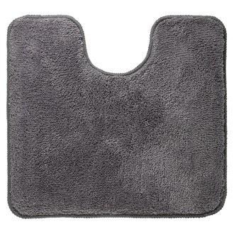 Tapis contour wc en microfibre gris 55x60cm