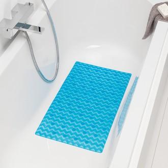 Tapis de bain antiderapant bleu Leisure 40x70cm