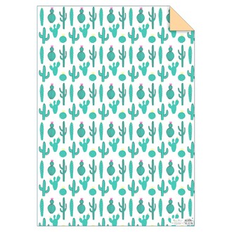 Meri meri - feuille de papier cadeau cactus 50x70m