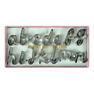 MERI MERI Lot 27 emporte-pièces alphabet métal