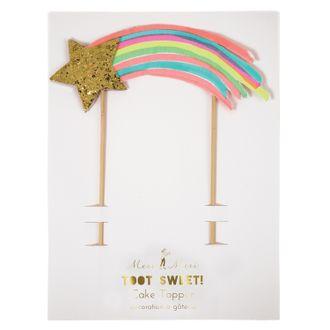 MERI MERI - Décoration de gateau étoile filante et pics en bois