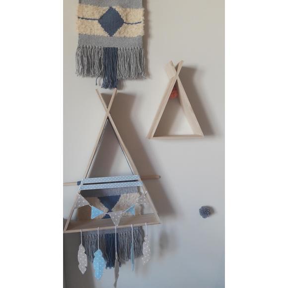 ARTEMIO - Set de 2 étagères tipi en bois brut
