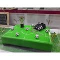 Soggetti decorativi per torta scarpetta calcio plastica