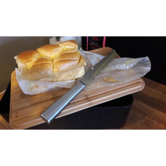 Boite pain petit modèle noir couvercle bambou 19x29x11 cm