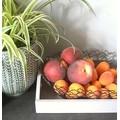 Corbeille à fruit argent Zig 18x19,5x7cm
