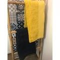 Asciugamano in cotone bio blu 100x150cm