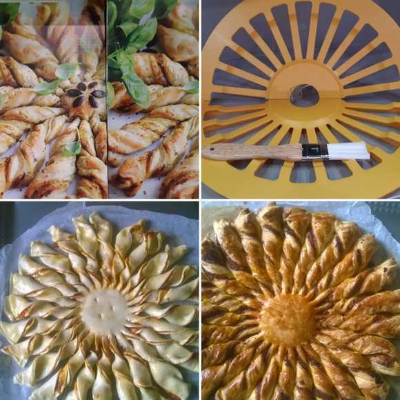 Set torta sole: stampo e pennello