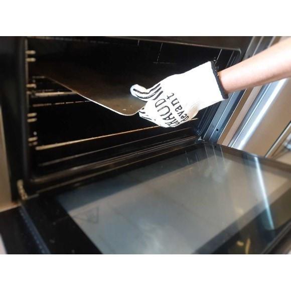 Guanto da forno in silicone e cotone