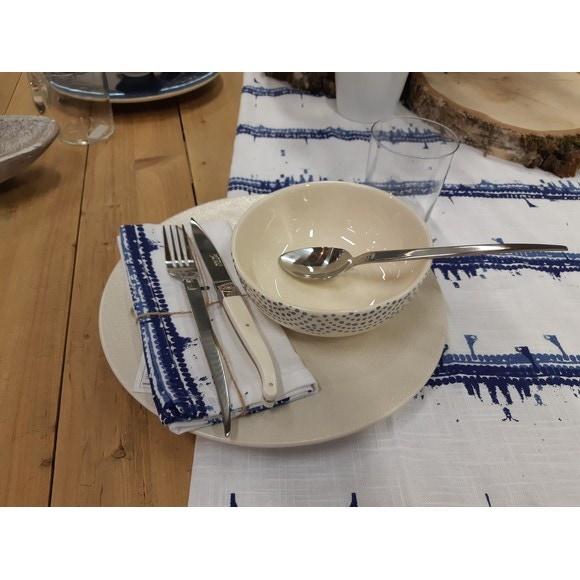 Assiette plate Vezuvio blanche 27cm