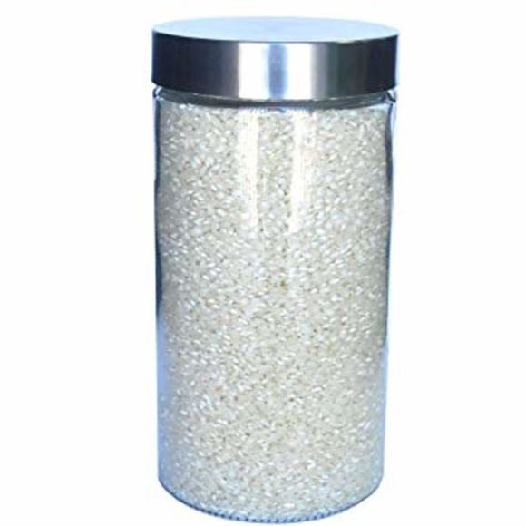 Barattolo tondo in vetro e inox 1,6L