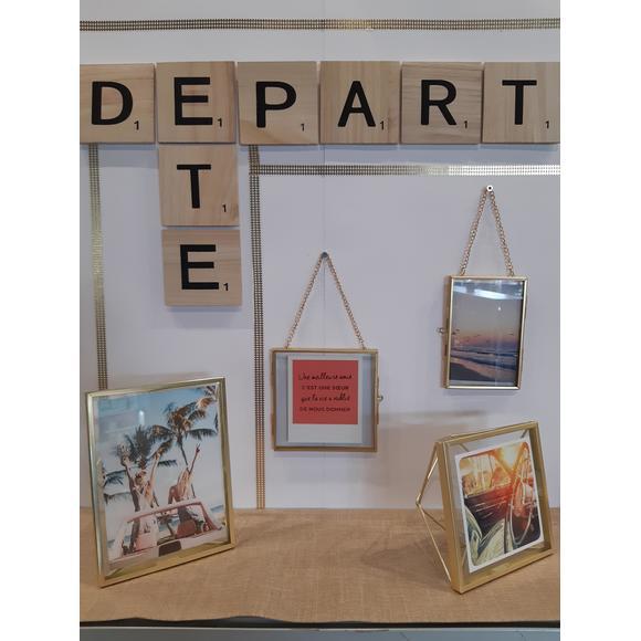 Lettre E Scrabble En Bois 10x10x06cm Pas Cher Zôdio