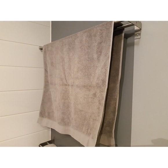 Asciugamano doccia in cotone grigio 70x140cm