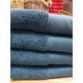 Asciugamano in cotone bio blu 50x100cm