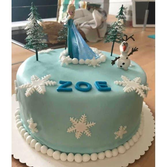 Sujets décoratifs pour gâteau la reine des neiges