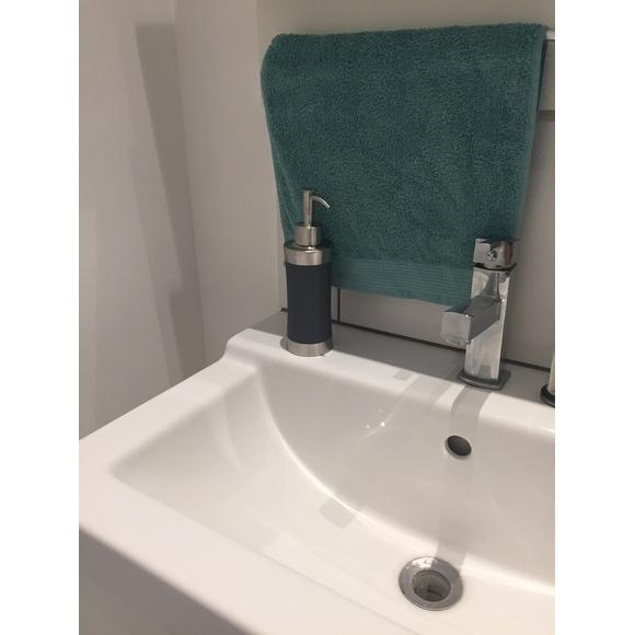 Asciugamano ospite in cotone bio azzurro 30x50cm
