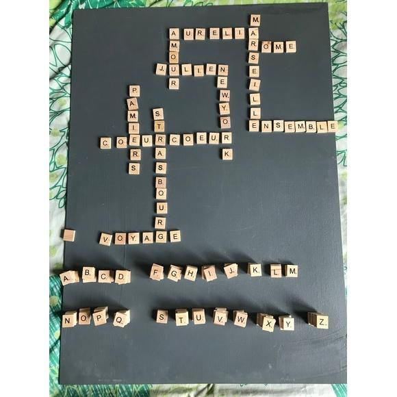 Lettres en bois Scrabble 2x2cm