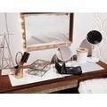 Boite bijoux en métal doré et verre Modern Life 20x14x7cm
