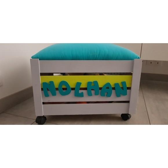 coffre jouets en bois brut d corer 28x18x13cm pas cher. Black Bedroom Furniture Sets. Home Design Ideas