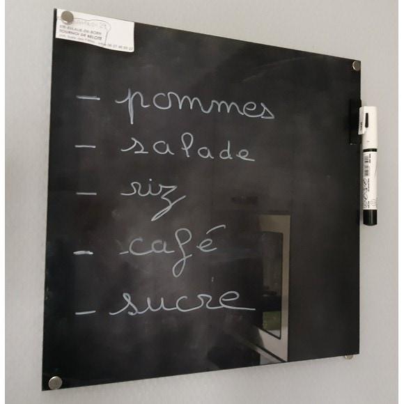 tableau memo cuisine en verre. Black Bedroom Furniture Sets. Home Design Ideas