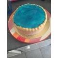 Lot de 5 ronds pour gâteau or 26cm