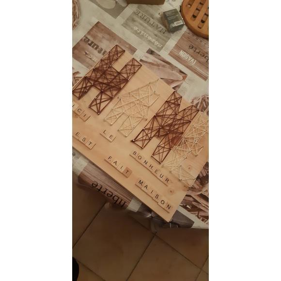 ARTEMIO - Lettres en bois Scrabble 2x2cm